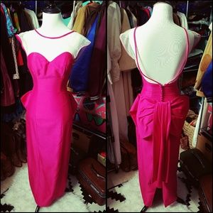 Bada$$, VINTAGE, hot pink gown!!